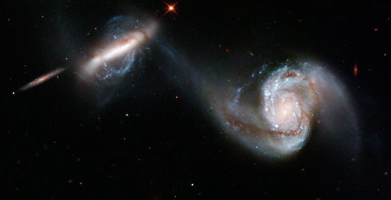 Interacting pair of galaxies